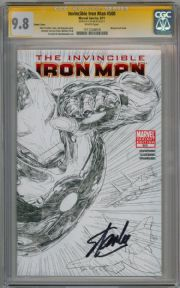 Invincible Iron Man #500 Sketch Variant CGC 9.8 Signature Series  Signed Stan Lee Marvel comic